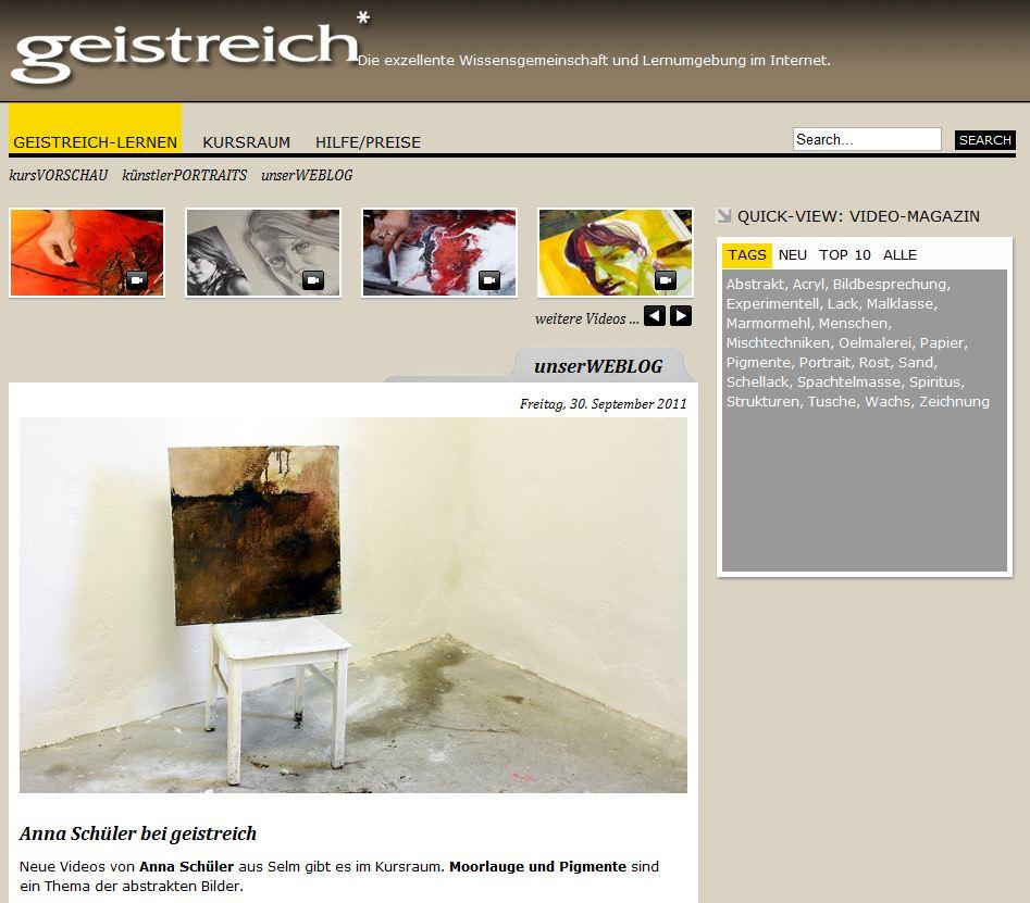 Der Online Malkurs Anna Schüler auf www.geistreich-lernen.de
