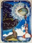 Ein bisschen Universum über MV (c) Aquarell von Frank Koebsch
