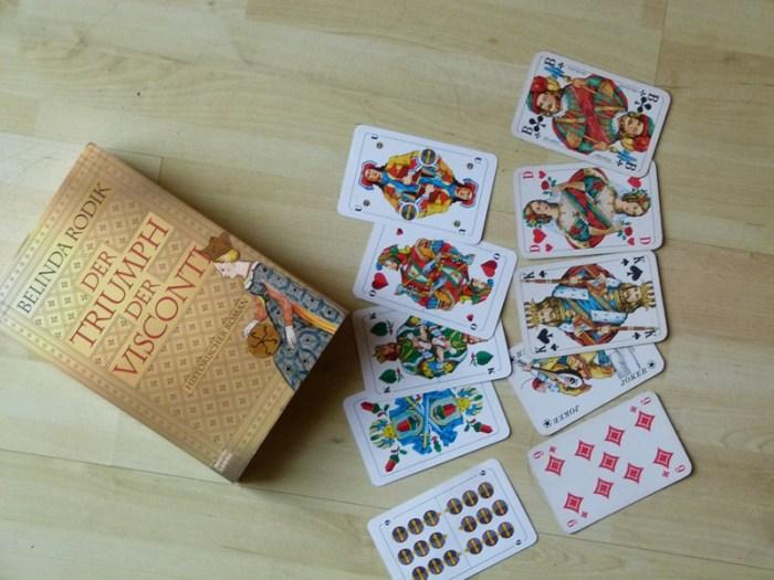 Ein Roman über die Trionfi  und heutige Spielkarten (c) Frank Koebsch