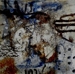 december rain I - ink and acrylics on torchon paper (c) Anna Schüler