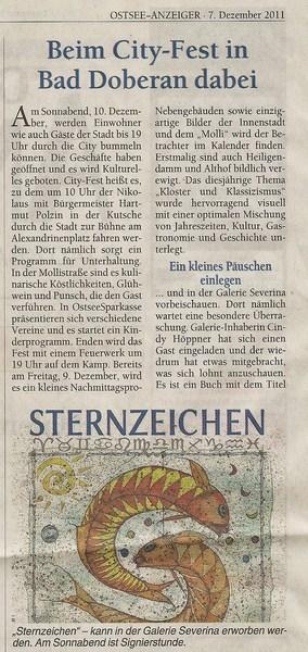 Ostsee Anzeiger zum City Fest in Bad Doberan 2011 12 07 Teil 1