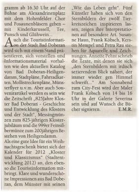 Ostsee Anzeiger zum City Fest in Bad Doberan 2011 12 07 Teil 2