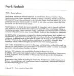 Vita von Frank Koebsch im Jahrbuch der Galerie Faszination Art