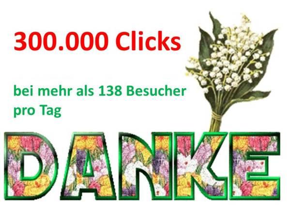 Danke für 300.000 Clicks