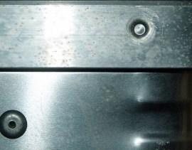 Alluminium als Malgrund (c) Frank Koebsch