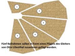 Fünf Keilrahmen als Flügel eines Gleiters von Otto Lilienthal (c) Frank Koebsch