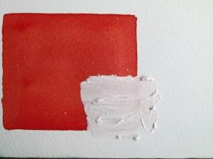 Korrekturen im Aquarell - Abdecken mit Acrylfarbe (c) Frank Koebsch
