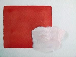 Korrekturen im Aquarell - Benetzen der Acrylfarbe mit Spiritus (c) Frank Koebsch