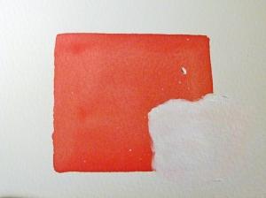 Korrekturen im Aquarell - zweite Schicht Acrylfarbe mit Spiritus nach em Trocknen (c) Frank Koebsch