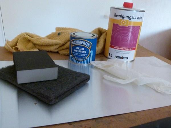 Vorbereitung zum Grundieren des Aluminiums (c) Frank Koebsch