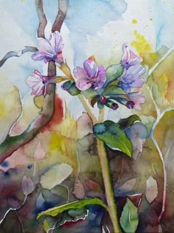 Erstes Bunt (c) Frühlingsbild in Aquarell von FRank Koebsch