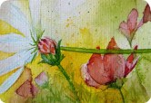 Farbexplosion (c) Frühlingsbild als Miniatur in Aquarell von Frank Koebsch