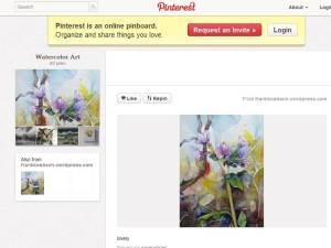 Mein Aquarell bei Pinterest