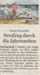 Unsere Ausstellung in Heringsdorf - Ankündigung in der Ostsee Zeitung vom 2012 02 28