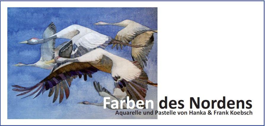 Einladungskarte für die Ausstellung – Farben des Nordens