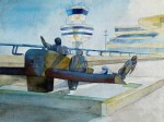 Wohin würden die Helden der Lüfte heute fliegen ? (c) Aquarell von Frank Koebsch