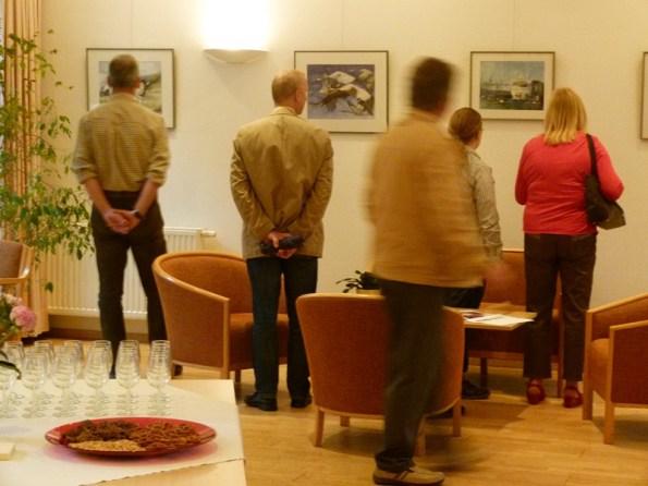Die ersten Gäste und das letze Foto (c) Frank Koebsch