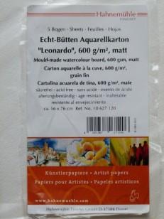 "Hahnemühle Echt-Bütten Aquarellkarton ""Leonardo"""