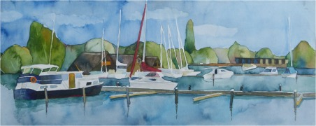 Sommer am See (c) Aquarell von Frank Koebsch