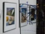 Zeichnungen auf Glas und Aquarelle (c) Frank Koebsch 1