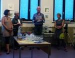 bei der Eröffnung (Frau Arndt, Frau Schwabe, Karsten Peters, Kerstin Mempel v.l) (c) Frank Koebsch