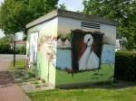 Bemaltes Trafohaus auf der Strochenwiese von Rethwisch (c) Frank Koebsch (1)