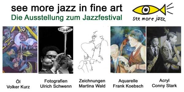 """Flyer für die Ausstellung """"see more jazz in fine art"""""""