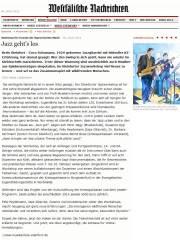 Jazz geht´s los - Westfähliche Nachrichten 2012 07 04