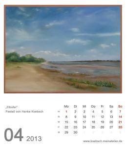 Kalenderblatt April 2013