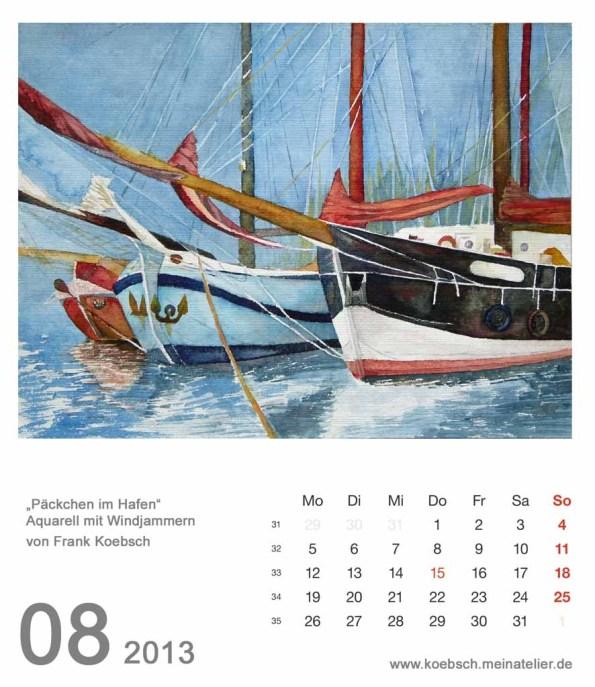 Kalenderblatt August 2013