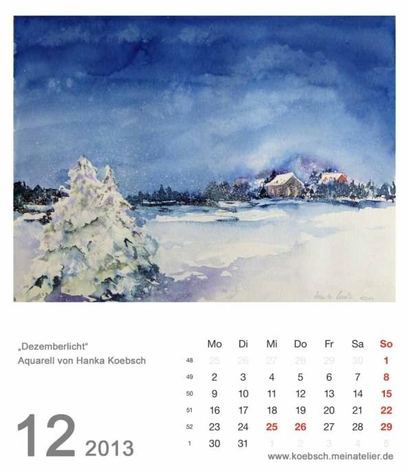 Kalenderblatt Dezember 2013