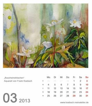 Kalenderblatt März 2013