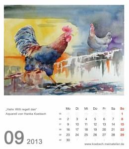 Kalenderblatt September 2013