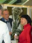 """Angeregte Gespräche im Rahmen der Vernissage für unsere Ausstellung """"see more jazz in fine art"""""""