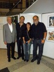 """Das Team der ausstellende Künstler Volker Kurz, Frank Koebsch, Conny Stark, Ulli Schwenn bei der Ausstellung """"see more jazz in fine art"""""""