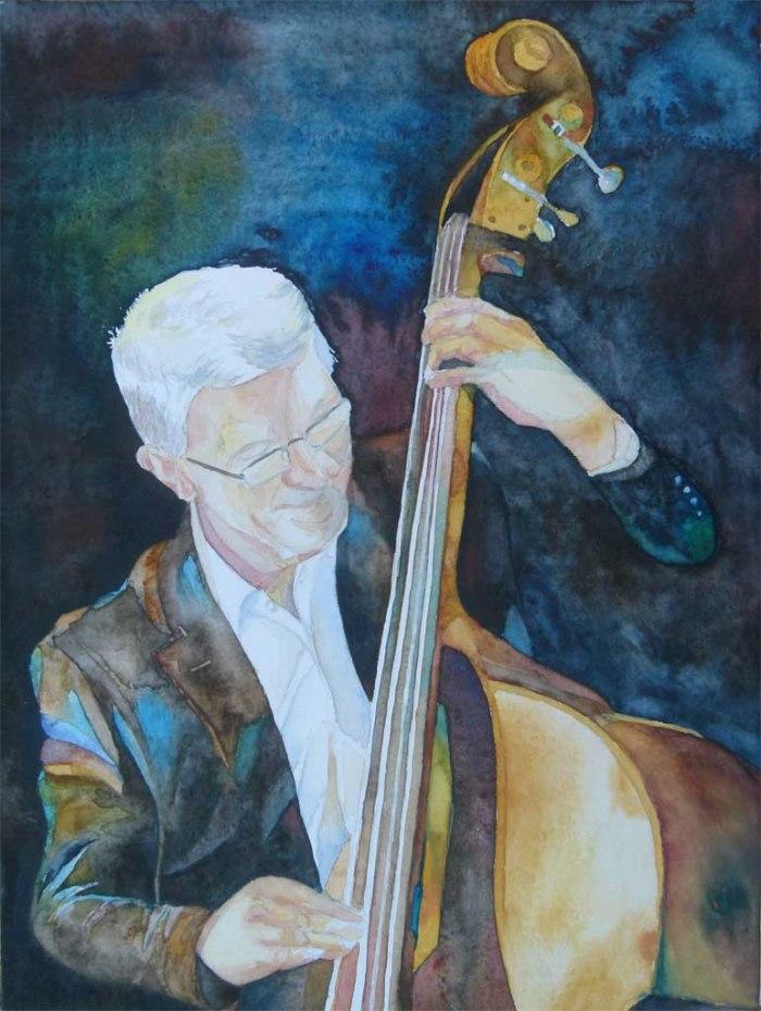 Es macht Spaß (c) ein Jazz Aquarell von Frank Koebsch