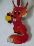 Fuchs - Wasserfarbe auf Sperrholz