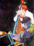 Jazz (c) Ölkreide auf Papier von Conny Stark