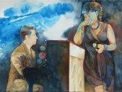 Spiel für mich (c) Jazz Aquarell von Frank Koebsch