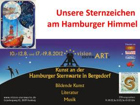 unsere Sternzeichen bei der vision sternwARTe in Hamburg