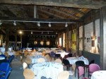 Alles bereit für den Jazzbrunch in der Schwarzen Scheune in Teutendorf (c) Frank Koebsch