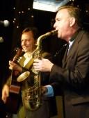 Andreas Pasternach und Christian Ahnsehl beim Jazzbrunch (c) Frank Koebsch