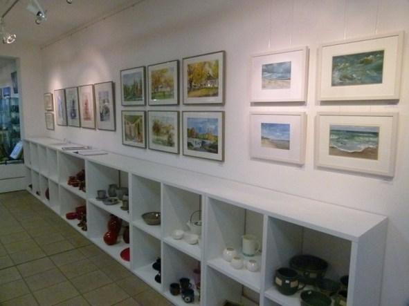 Aquarelle und Pastelle von Hanka & Frank Koebsch in der Galerie Severina (c) FRank Koebsch