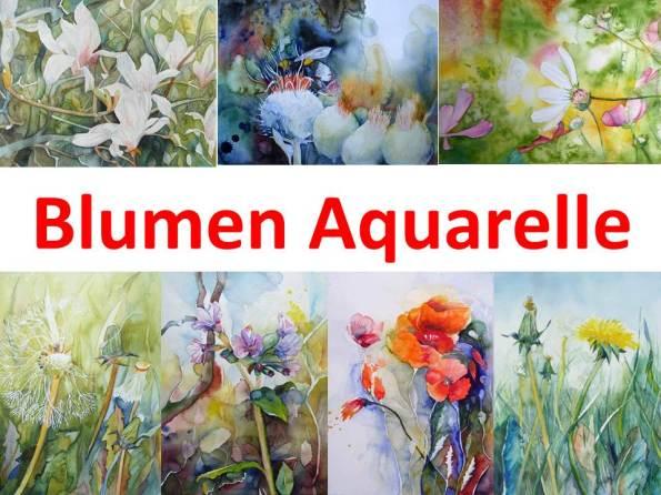 Blumen Aquarelle