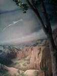 Flugsauerier auf einer Wandmalerei im Darwineum (c) Frank Koebsch