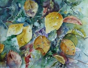 Herbstlich(t) - Aquarell von Hanka Koebsch (c)