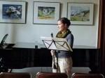 Klarinetten Konzert vor unseren Kranich Aquarellen (c) FRank Koebsch