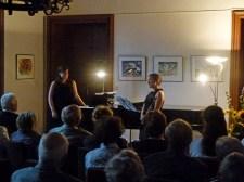 Konzert für Klavier und Klarinette vor unsern Aquarellen im Lüsewitzer Schloss (c) FRank Koebsch