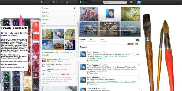 Meine Aquarelle auf Twitter @FRank8233