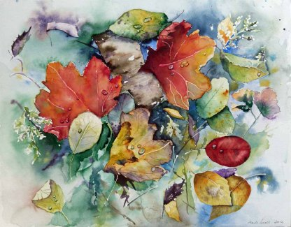Auf ein Neues (c) ein Herbst Aquarell von Hanka Koebsch
